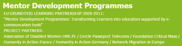 MentorDevelopmentProgrammes